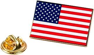PinAddict American Flag Lapel Pin Patriotic USA Tie Tack United States Emblem