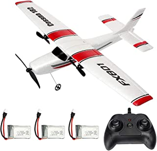 RC Plane 2.4GHz 2CH Remote Control Airplane Ready to Fly, Gliding Aircraft Model Easy to Fly for Kids Beginner with 2 Extr...