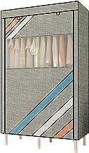 HN Wardrobe, Cloth Wardrobe Assembly Cloth Wardrobe Simple Wardrobe Double Wardrobe Storage Cabinet 2 Color Optional (Colo...