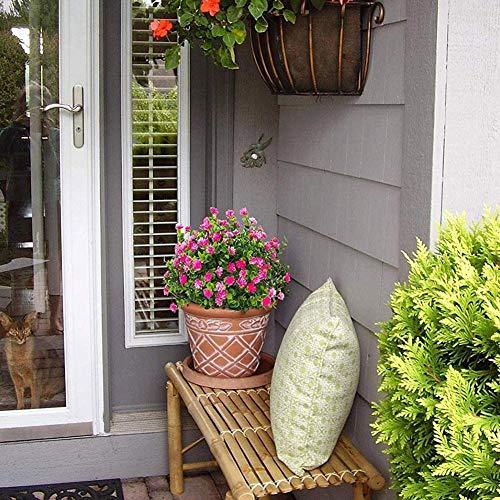 1 Bündel Künstlicher Plastik Blumenstrauß für Haupt Dekorations Pflanzenwand Garten Deko - 9