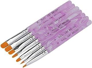 Haobase 7 brushes nail art nail Brushes and deco nail UV gel or acrylic