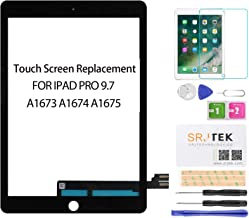SRJTEK for iPad Pro 9.7 Screen Replacement Touch Screen Replacement,Touchscreen,Touch Digitizer,Glass Repair Parts Assembly Kit for iPad Pro 9.7 2016 A1673 A1674 A1675(LCD Not Include) Black