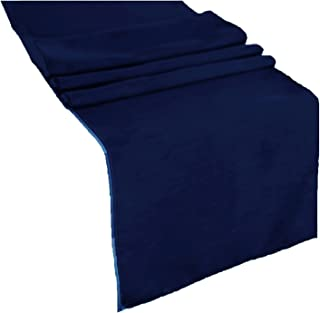 runner linens Table Runner 14x108 Inches Ideal for Wedding, Baby Shower, Home, Restaurant, Party Rental Factory (Navy Blue)
