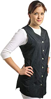 Sleeveless Black Salon Smock, XXL (Size 14-16)
