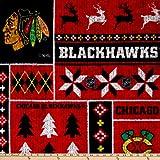 NHL Chicago Blackhawks Ugly Sweater Fleece Multi, Fabric by the Yard
