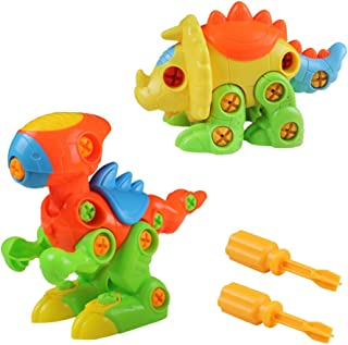 Akokie -  Puzzle Dinosaurios, Dmontaesr Dinosaurios Juguetes, Puzzle Dinosaurios Ingeniería Construccion de Juguete Tirón arrastrar con 120 piezas, para Niños de 3+ Años 20 x 17 x 14cm