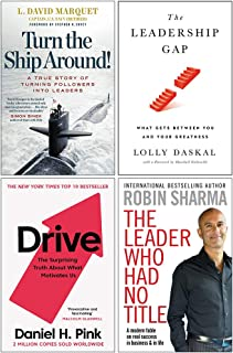 Turn The Ship Around, Leadership Gap [Hardcover], Drive Daniel Pink, The Leader Who Had No Title 4 Books Collection Set