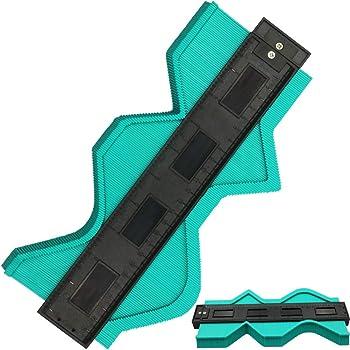 10 Inch Contour Gauge Irregular Profile Gauge Duplicator, Shape Duplicator Edge Shaping Measure Ruler, Precisely Copy Irregular Shapes (Green)