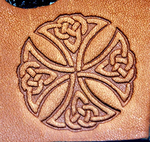 Leather Tools and Supplies Celtic Knoted Cross Leather Embossing/Clicker Stamp, Delrin/Acetal Leathercraft Accessories for DIY, Heavy Fabric, Canvas, Upholstery, Bag, Shoe, Belt