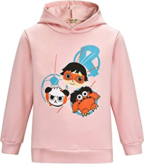 Thombase Boys & Girls Ryans Hoodie World Vlogger YouTube Toy Review Kids Cartoon Clothes