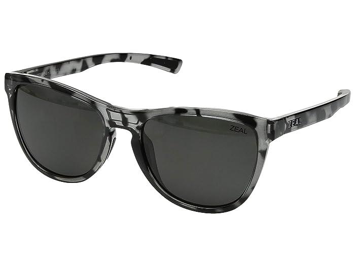 Zeal Optics  Bennett (Slate Tortoise/Polarized Dark Grey Lens) Athletic Performance Sport Sunglasses