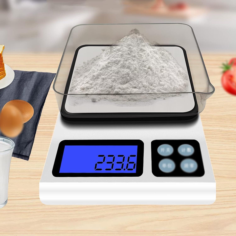 Bascula de Cocina, Escala De Cocina De Alimentos, Básculas De Pesaje De Cocina De Acero Inoxidable Con Pantalla Lcd Escala De Cocción Electrónica Para Pérdida De Peso, Hornear, Cocinar,(Size:5kg/0.1g)