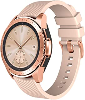 ANCOOL Compatible with Galaxy Watch 42mm Band Soft Silicone Watch Bands Replacement for Samsung Gear Sport/Garmin Vivoactive 3/Ticwatch 2/Ticwatch E Smartwatches (Large, Vintage Rose)