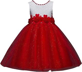 Qitun Bebés Niñas Vestido Floral De Tutú Princesa Traje De Fiesta Formal Elegante para Boda Cumpleaños Festividades