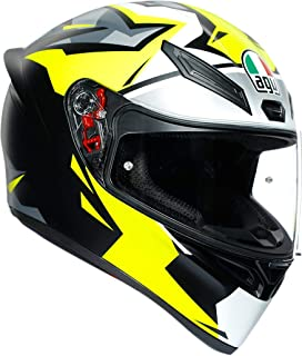 AGV K1 Mir-18 Adult Street Motorcycle Helmet - Yellow/Black/Medium/Large