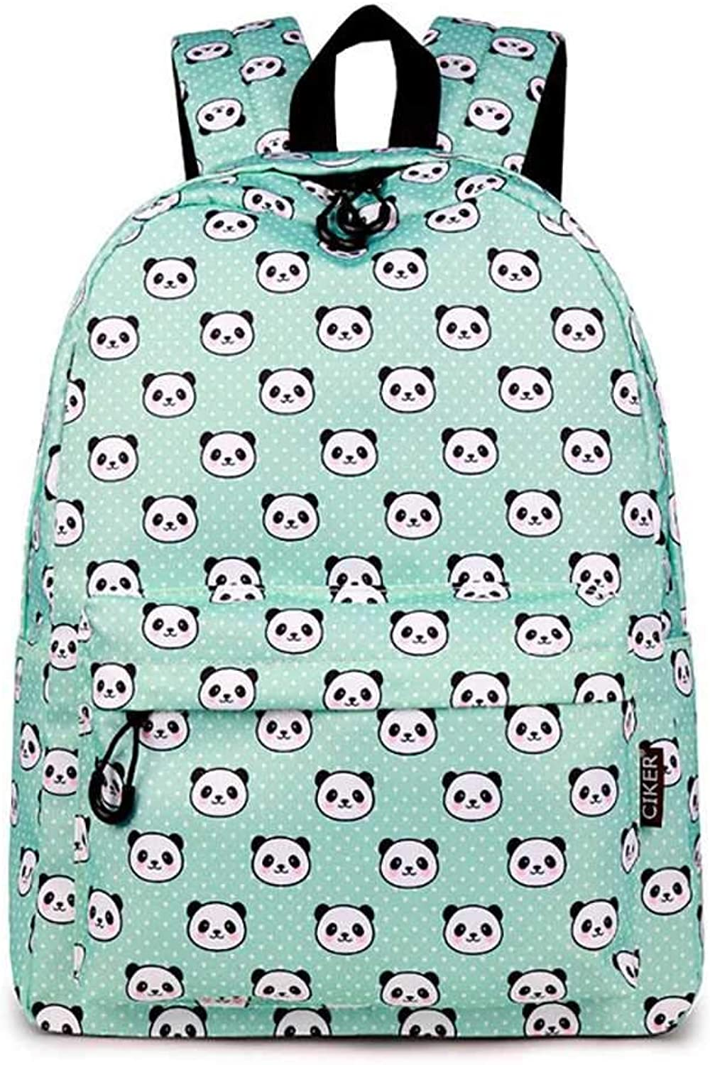 goldt1 Women Panda Print Backpack, Backpack Student Bag Casual 16.8L Backpack Zipper Waterproof Youth with Kettle Pocket (color   1)