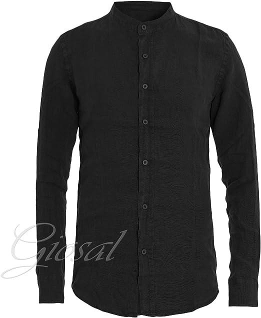 Giosal - Conjunto de Camisa Negra y pantalón a Rayas para ...