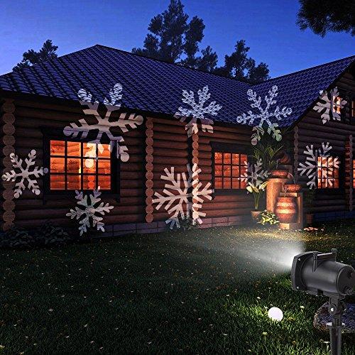 LED Weihnachtslicht Projektor - ICOCO LED Lichteffekt mit 12 Folien Weihnachten Projektor Lampe Innen Außen Projektionslampe Ip65 für Festival-Dekoration Geburtstag Hochzeit Party
