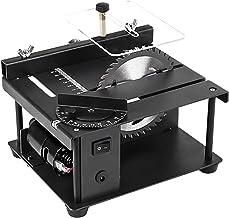Sierra de mesa portátil de sobremesa, Sierra de mesa, sierra de mesa eléctrica ajustable de velocidad de 7 niveles, Mini sierra circular de escritorio, con guía de ángulo, profundidad de corte de hast