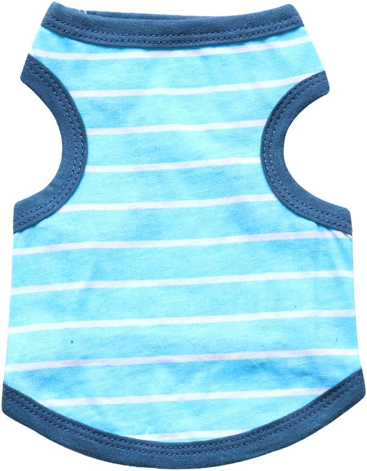 Huayue Cotton Jersey Pet Minor and Metier Dog Vest Spring Summer Dog TShirt (color   bluee, Size   XS)