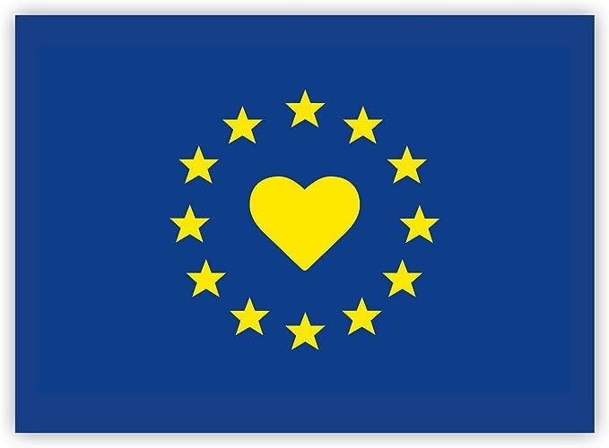 10 X Aufkleber Europa Eu Flagge Eu Sticker Mit Herz Auto