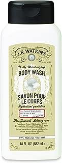 J.R. Watkins Daily Moisturizing Coconut Milk and Honey Body Wash, 18 Ounce