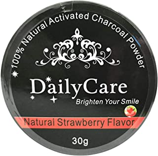 liumiKK 30g Teeth Whitening Oral Care Charcoal Powder Natural Activated Charcoal Teeth Whitener Powder Oral Hygiene Multiple Flavors Strawberry Mint Lemon Rose