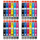 Juego de 6 Cartuchos de Tinta para reemplazar Epson T2438 (24XL Series) Compatible/no OEM para impresoras Epson Workforce (24 tintas), Multicolor (BK/C/M/Y/LC/LM)