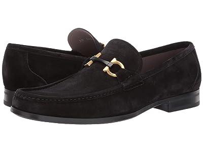 Salvatore Ferragamo Grandioso 2 Loafer (Black Suede) Men