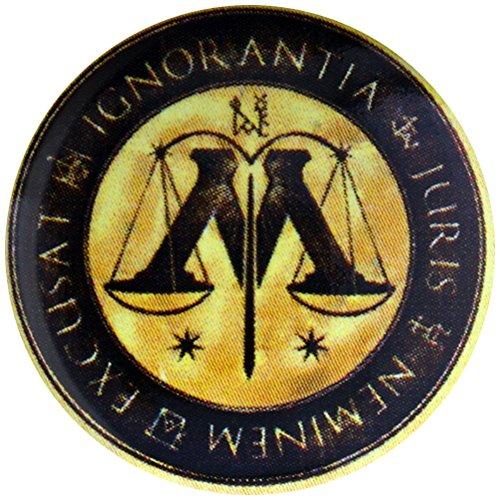 Harry Potter Botón Broche Insignia Ministerio De Magia Escalas Logo