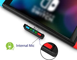 HomeSpot Bluetooth 5.0 Audio Transmitter Adapter with USB C Connector Built-in Digital Mic aptX Low Latency for Nintendo Switch Accessories Compatible with AirPods PS4 Bose Sony