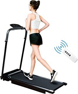 2 in 1 Folding Treadmill, Walking Treadmill, Installation-Easy, with LED Display, Remote Control and IPAD Holder, Under Desk Walking Jogging Machine for Home/Office Use.