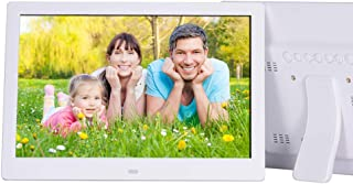 Digital Photo Frame,12 Inch 1280 * 800 Digital Photo Frame with Card/USB Multi- MP3/MP4 Player with Display Stand WithWhite