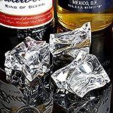 bar@drinkstuff Künstliche Acryl-Eisstücke, Deko-Eiswürfel für Dekorationen, 1 kg, Beutel mit 60...