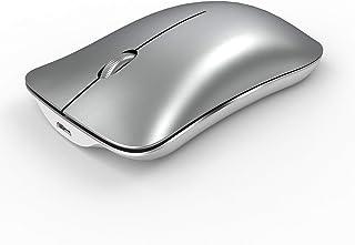 فأرة شحن لاسلكية رفيعة للغاية من PTN - ماوس مكتب منزلي مع جهاز استقبال USB متوافق مع أجهزة الكمبيوتر المحمولة - الكمبيوتر ...
