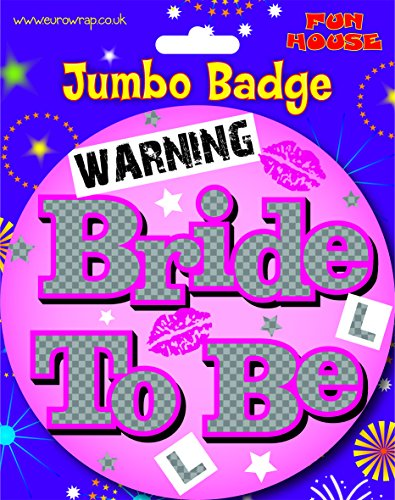 Jumbo Sized 'Bride To Be' Pin Badge Hen Party/Night Accessory