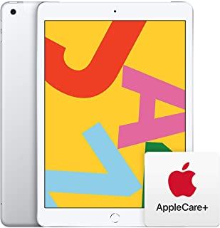 Apple iPad (10.2-Inch, Wi-Fi + Cellular, 32GB) - Silver (Previous Model) with AppleCare+ Bundle