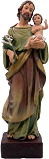 Large Catholic Saint Joseph Statue with Baby Christ Jesus, The Worker Figurine Tabletop Decoration, Standing Religious Dec...