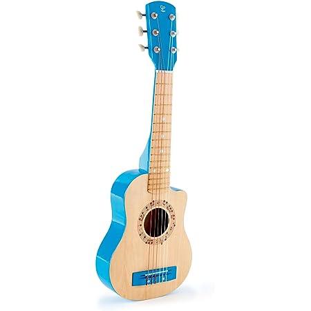 Hape-HAPE-E0601-Instrument de Musique Guitare Lagon Bleu Jouets en Bois, E0601, Multicolore, Taille Unique