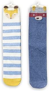 Kids Stockings, Unisex Warm Cartoon Cotton Knee High Socks, 2 Pairs
