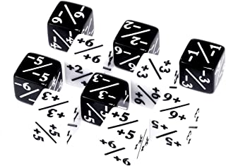 10x Dice Counters, Token, Creature Stats or Loyalty, 5X White +1/+1 and 5X Black -1/-1 for CCG, MTG Magic: The Gathering