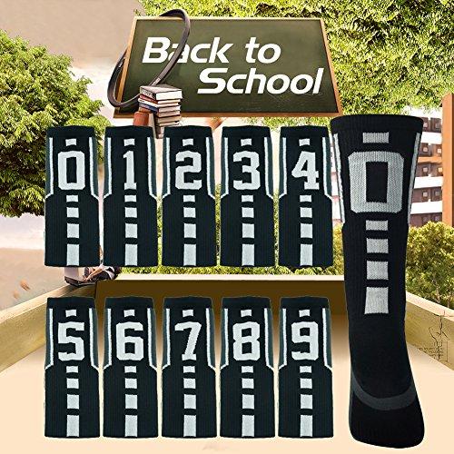 Soccer Socks, Comifun Adults Teens Athletic Player Custom Team Number ID Socks Football Socks 1 Pair