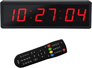 BTBSIGN LED Digital Countdown Wall Clock Fitness Timer Stopwatch for Gym (2.3inch Digital High)