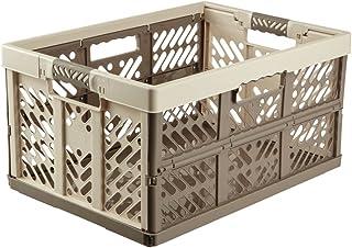 comprar comparacion keeeper Robusta Caja Plegable con Mangos Suaves, 54 x 37 x 28 cm, 45 l, Ben, Crema/Marrón