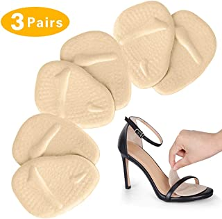 Metatarsal Pads for Women High Heels - Soft Gel Ball of Foot Cushions (3 Pairs) - Heel Cushion Inserts for Mortons Neuroma Pain Relief