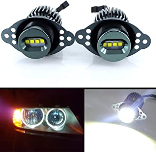 Apmataut LED Angel Eye Marker Bulbs Compatible With 2006-08 BMW E90 3 Series HID Xenon Headlights & 2009-12 BMW 3 Series L...