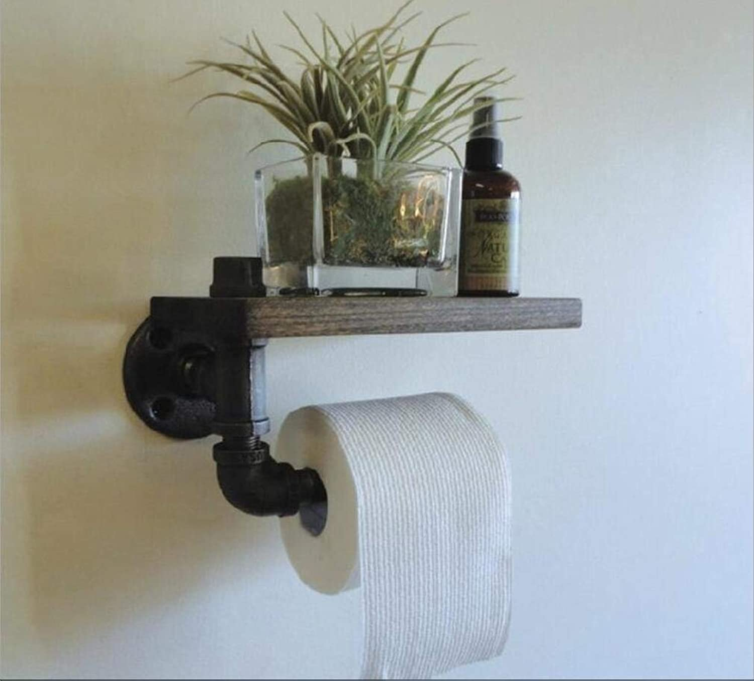 Accessories for Bathroom American Retro Wooden Bookshelf Iron Bathroom Dry-Towels Batteries Home The Display Framework The Toilet Paper,to Something False Antique Furniture
