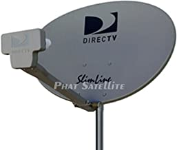 New - Complete KIT: Directv HD Satellite Dish w/Digital SWM3 DSWM3 LNB 20 Tuners + RG6 COAXIAL Cables Included Ka/ku Slim ...