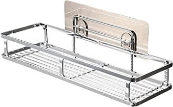 XINHU Zilveren Badkamer Plank Badkamer Rack Douche Organizer Caddy Mand Plank Zelfklevende Wall Mount Badkamer Rack Opslag...