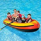 YZT QUEEN Kayak, 3 Personen Schlauchboot Kajak Verdickt Schlauchboot 211 cm * 117 cm * 41 cm, Outdoor-Freizeitkajak Fischerboot Mit Paddel Und Luftpumpe